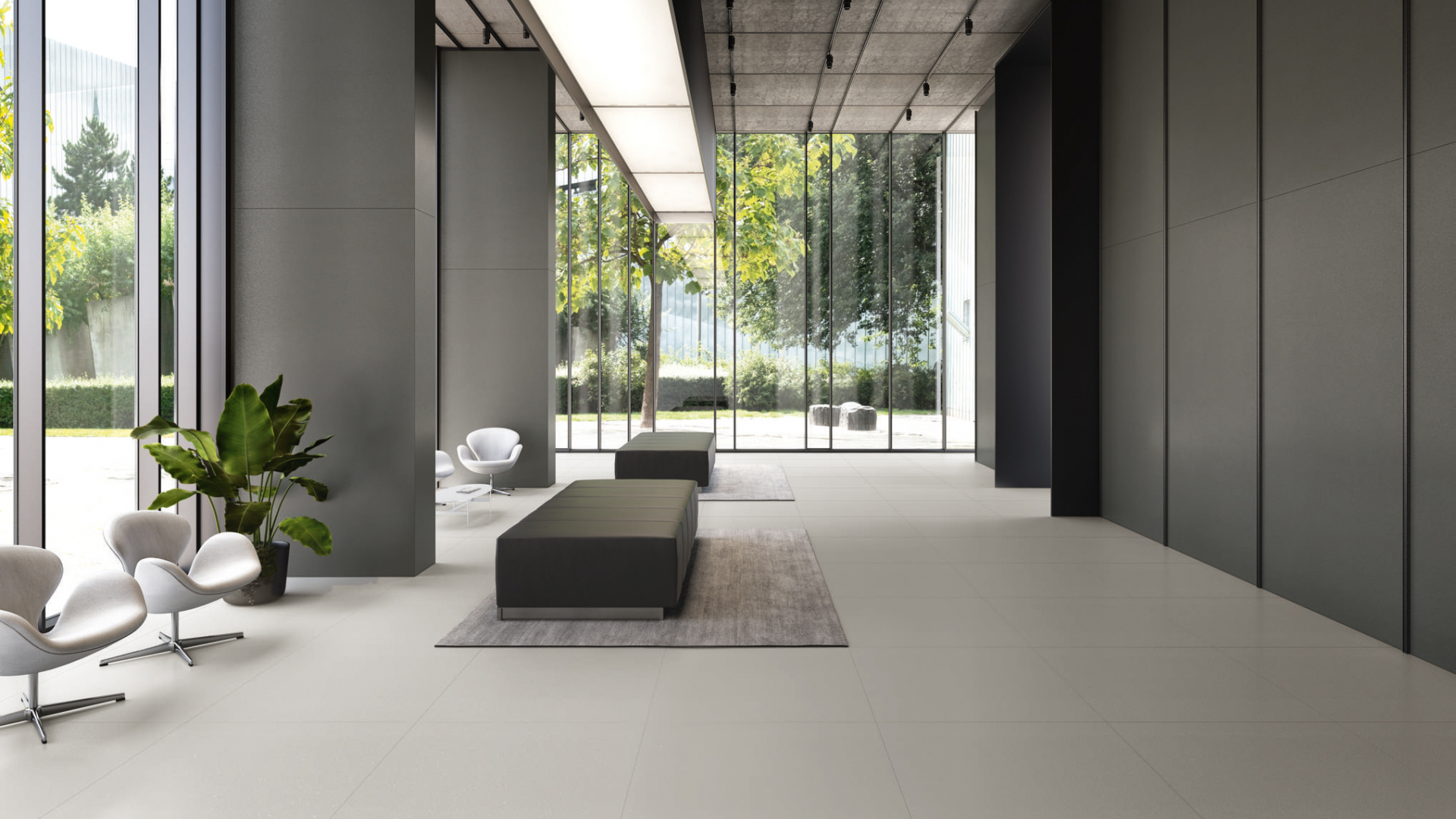 Minimal-look-tiles-hall